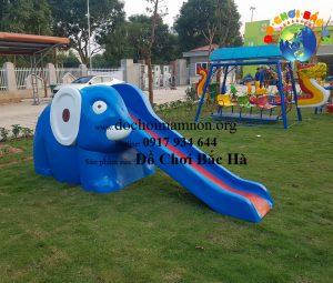 Cầu trượt hình con voi A814