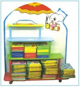 Giá thư viện mầm non hình con voi  B205