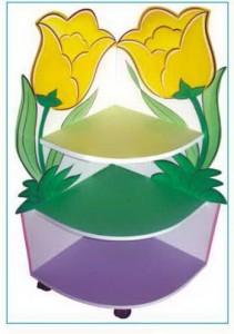 B109 Kệ 3 tầng hoa tulip