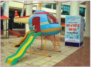 Nhà chơi cầu trượt mô hình máy bay  A804