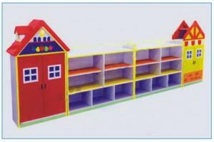 tủ đồ chơi 4 khối hình mái nhà B144