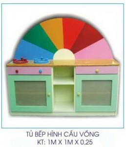 Tủ bếp mầm non hình cầu vồng B409