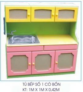 Tủ bếp mẫu giáo có bồn số 1 B415
