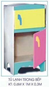 Tủ lạnh mầm non trong bếp B407
