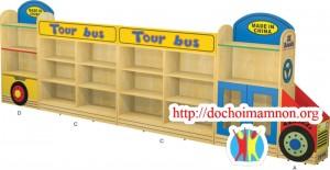 Giá để đồ chơi gỗ thông E110