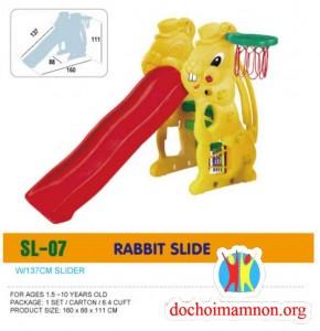 Cầu trượt con thỏ có cột bóng rổ D309