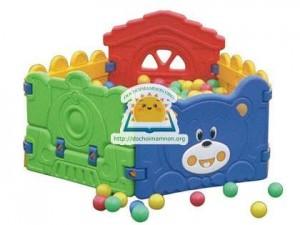 Bể bóng con gấu D401