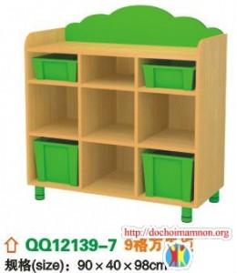 Giá để đồ chơi gỗ thông E108