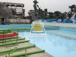 nhà chơi cầu trượt bể bơi