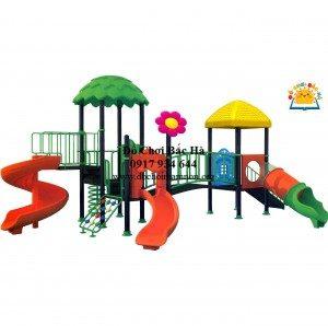 Khu vui chơi liên hoàn 3 khối cho trẻ biết cách hoạt động nhóm hiệu quả