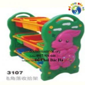 Giá sách nhựa con thỏ