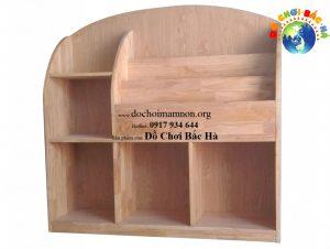 Giá sách mầm non gỗ thông 1