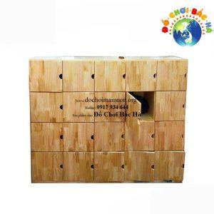 Tủ ba lô có cánh gỗ thông tự nhiên