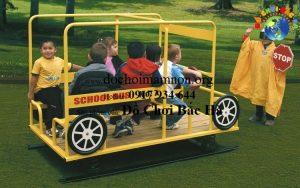 Nhún lò xo xe Bus đồ chơi số 3